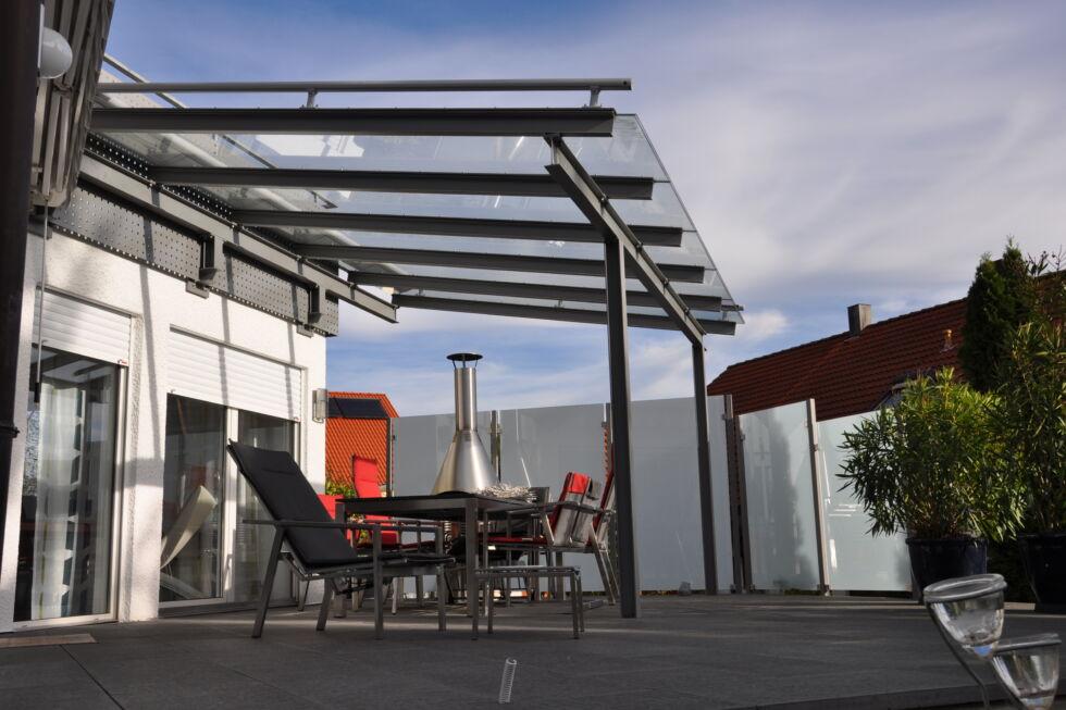 terrassen berdachung albershausen stahlbau n gele. Black Bedroom Furniture Sets. Home Design Ideas