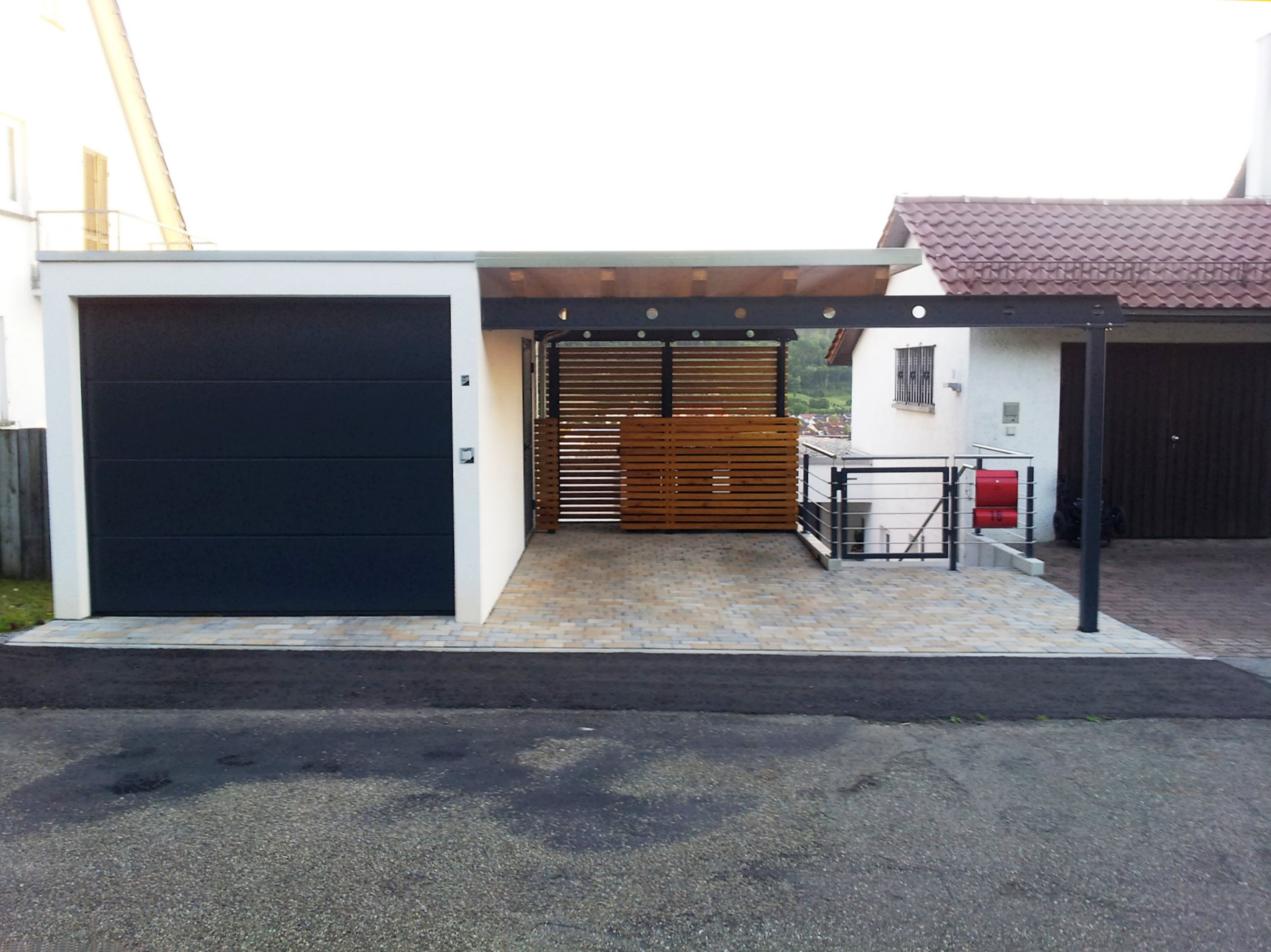 carport mit dachbegr nung rhombus wandverkleidung. Black Bedroom Furniture Sets. Home Design Ideas