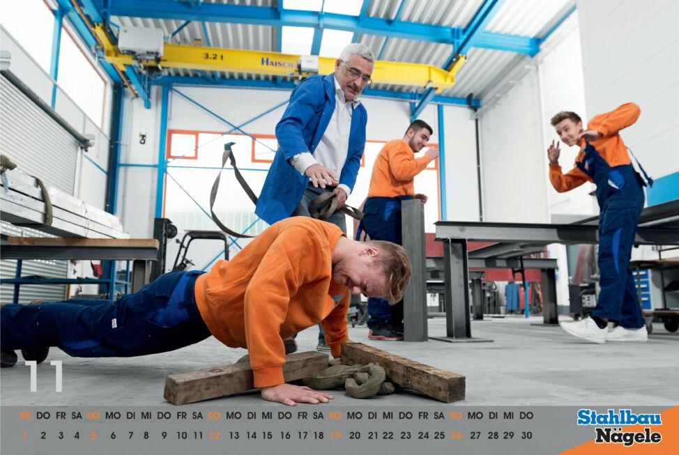 Stahlbau Nägele Kalender 2017-In the army now