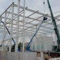 Stahlbau-Stahlkonstruktion Neubau Hochregallager-Nürtingen