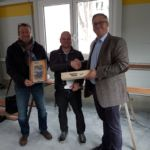 SF-Bau-Abnahme und Urkundenübergabe Kuntze DHL Süssen-Hallenneubau-Schlüsselfertigbau-Stahlbau