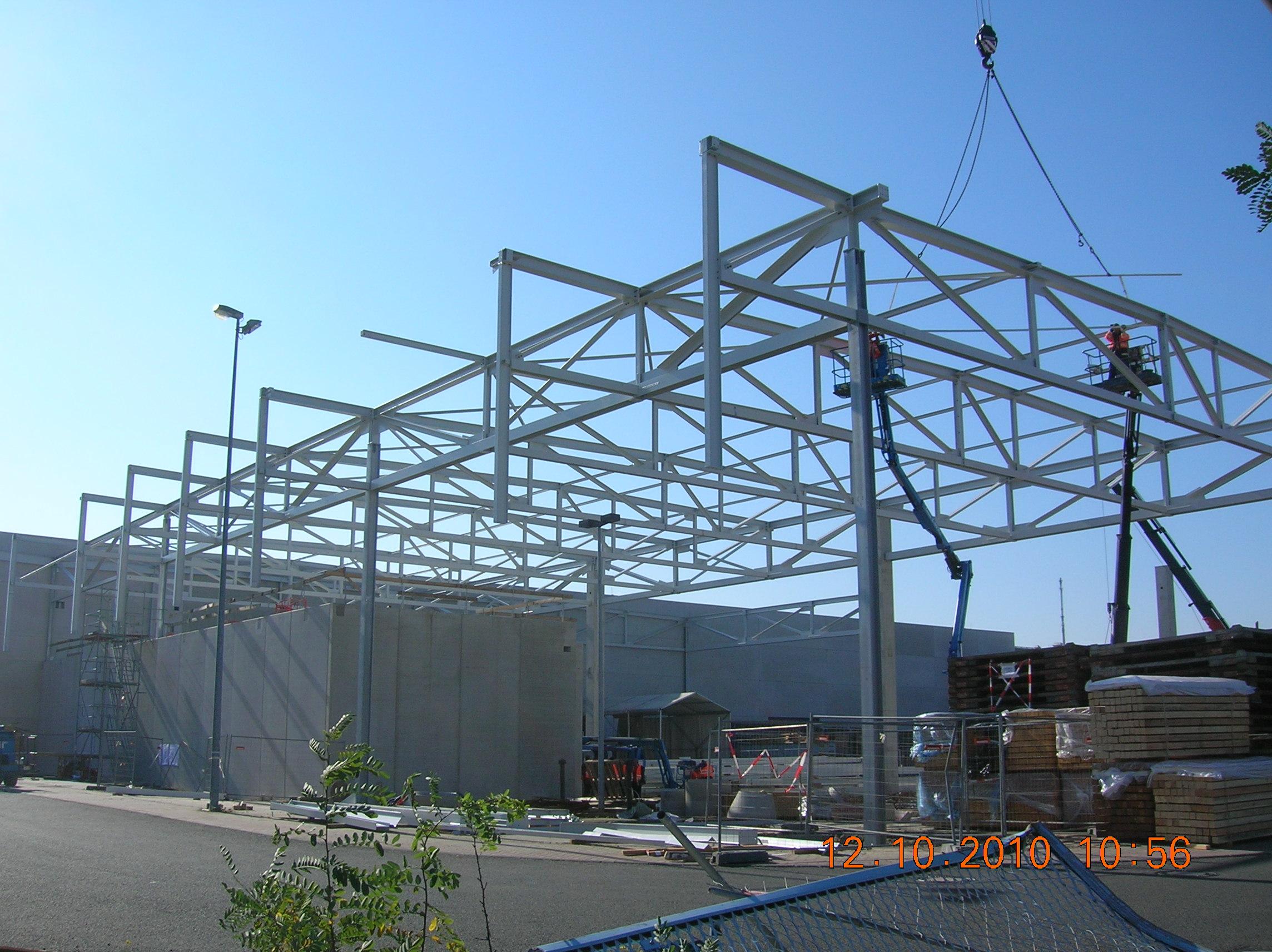 stahlkonstruktion logistikhalle stahlbau n gele