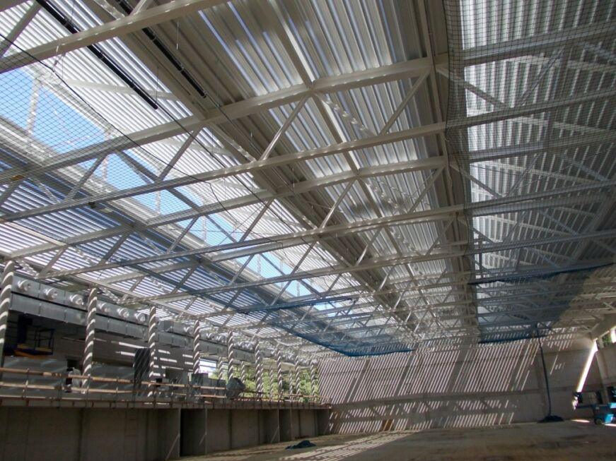 Neubau Vier Feld Sporthalle Stahlbau N 228 Gele