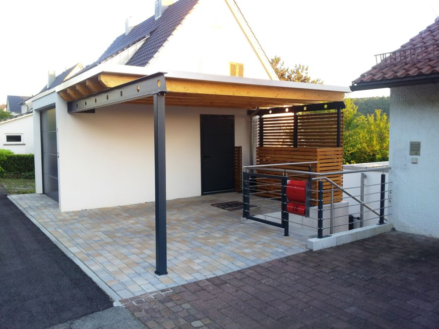 carport mit dachbegr nung rhombus wandverkleidung stahlbau n gele. Black Bedroom Furniture Sets. Home Design Ideas