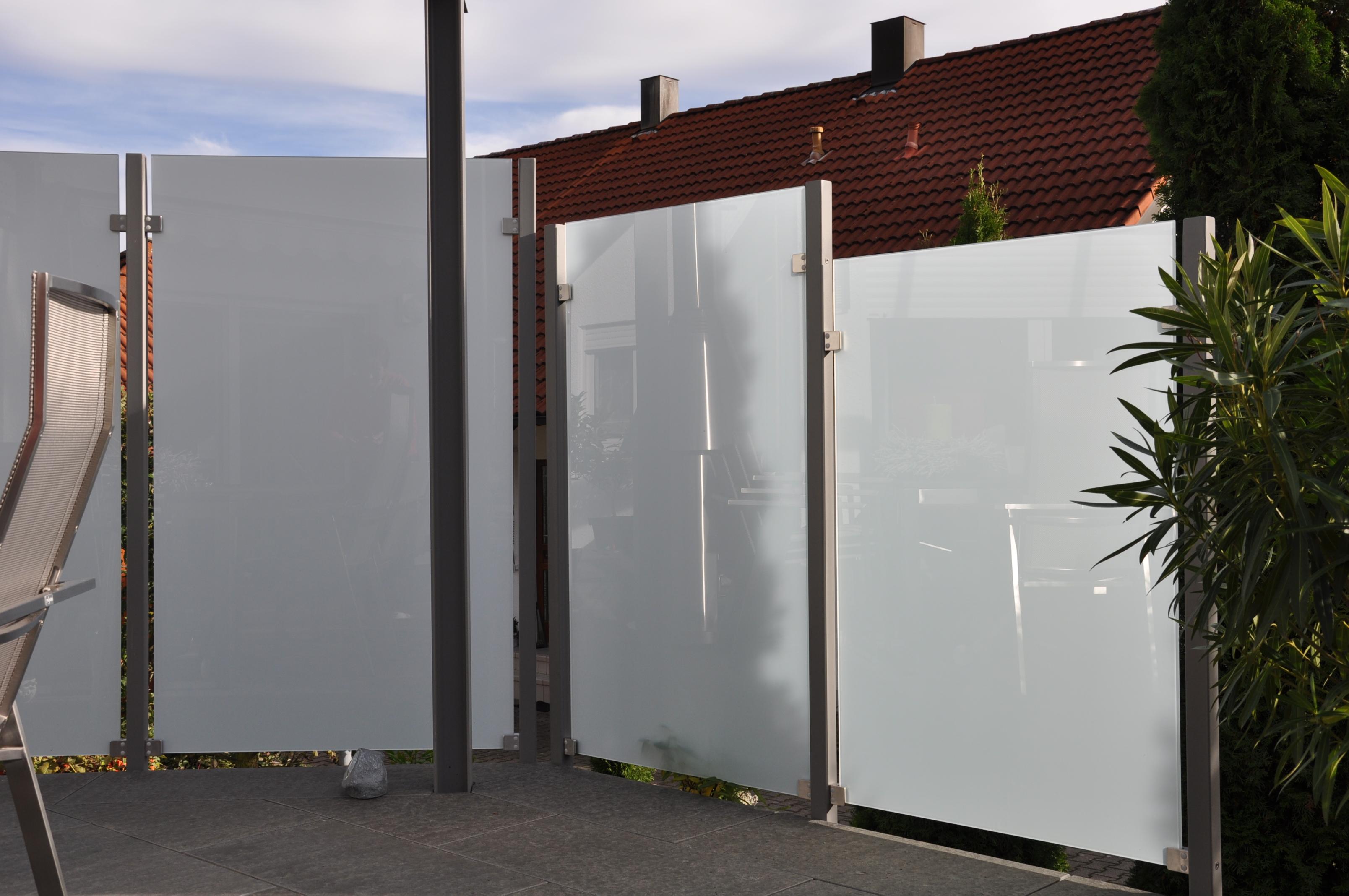 Sichtschutz für Terrasse  Stahlbau Nägele