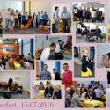 Collage Sommerfest Stahlbau Nägele-Kolleginnen und Kollegen feiern gemeinsam