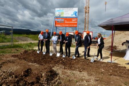 I-Bau-Spatenstich Neubau Verwaltungsgebäude Donzdorf-Industriebau