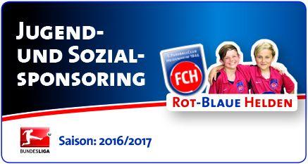 1. FC Heidenheim-Sponsoring Stahlbau Nägele-Rot-Blaue-Helden