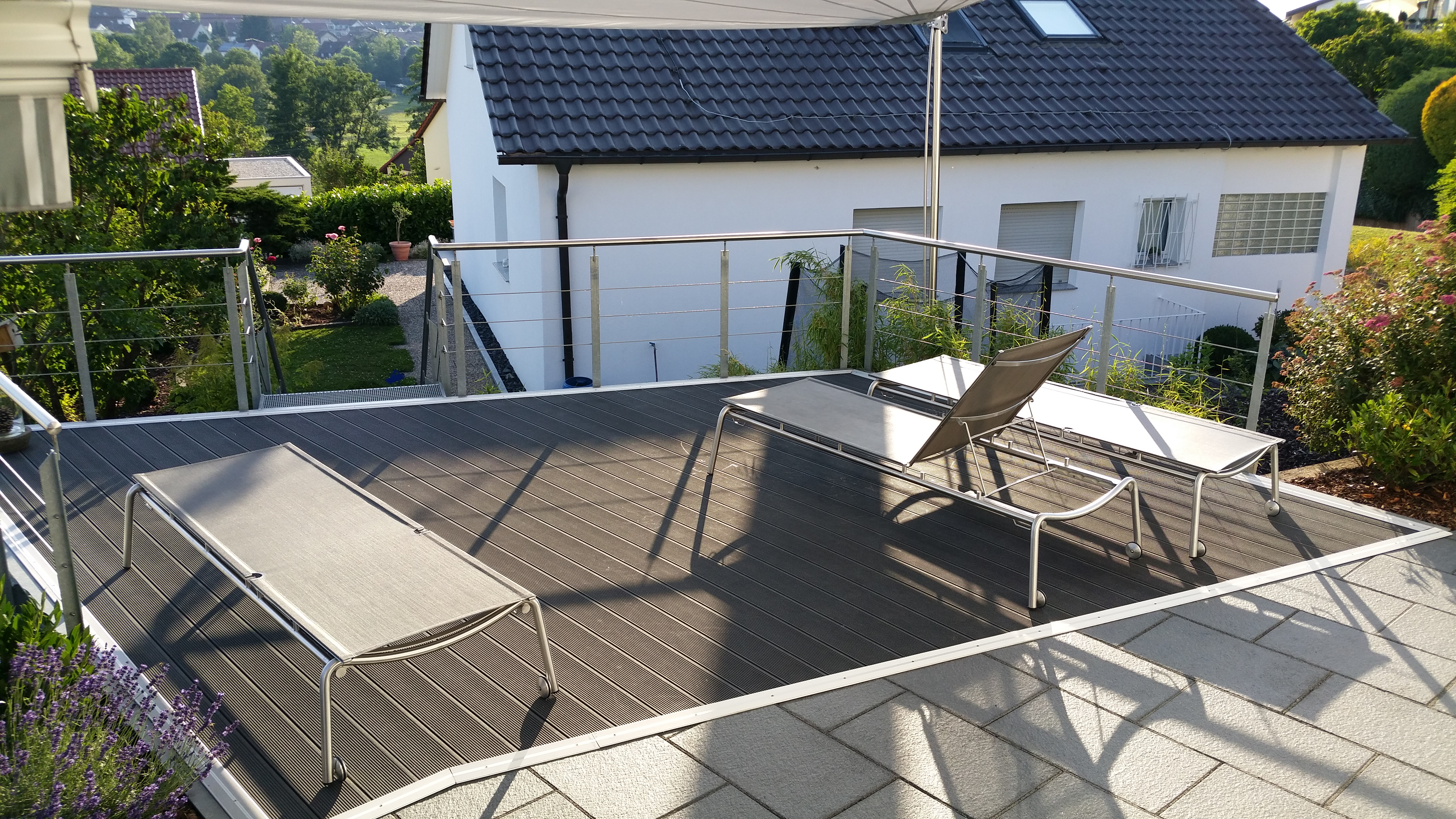 terrassenerweiterung birkmannsweiler stahlbau n gele. Black Bedroom Furniture Sets. Home Design Ideas