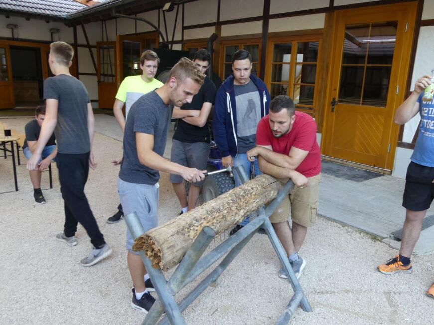 Stahlbau Nägele Azubi-Ausflug-Wettnageln-Lochmühle Eigeltingen