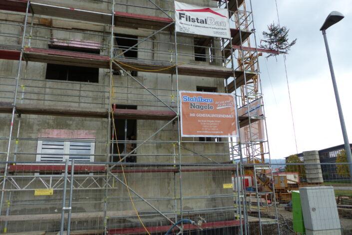SF-Bau-Richtfest in Donzdorf-Neubeu Verwaltungsgebäude