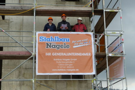 SF-Bau-Richtspruch-Richtfest in Donzdorf-Neubeu Verwaltungsgebäude