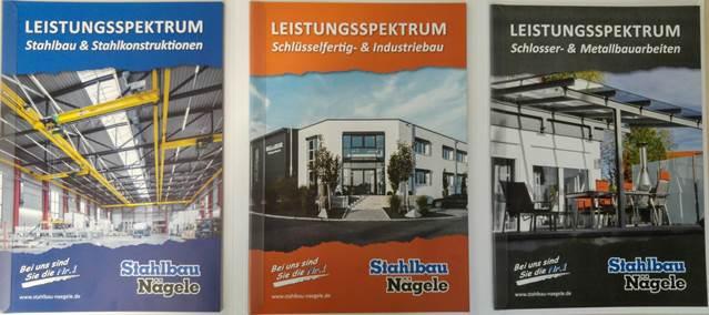 Neue Stahlbau Nägele Prospekte-Präsentationsmappe innen
