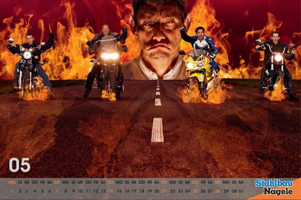 Stahlbau Nägele Kalender 2017-Gighway to hell