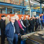 Besuch Göppinger Technikforum und VHS Eislingen bei Stahlbau Nägele-Werksführung