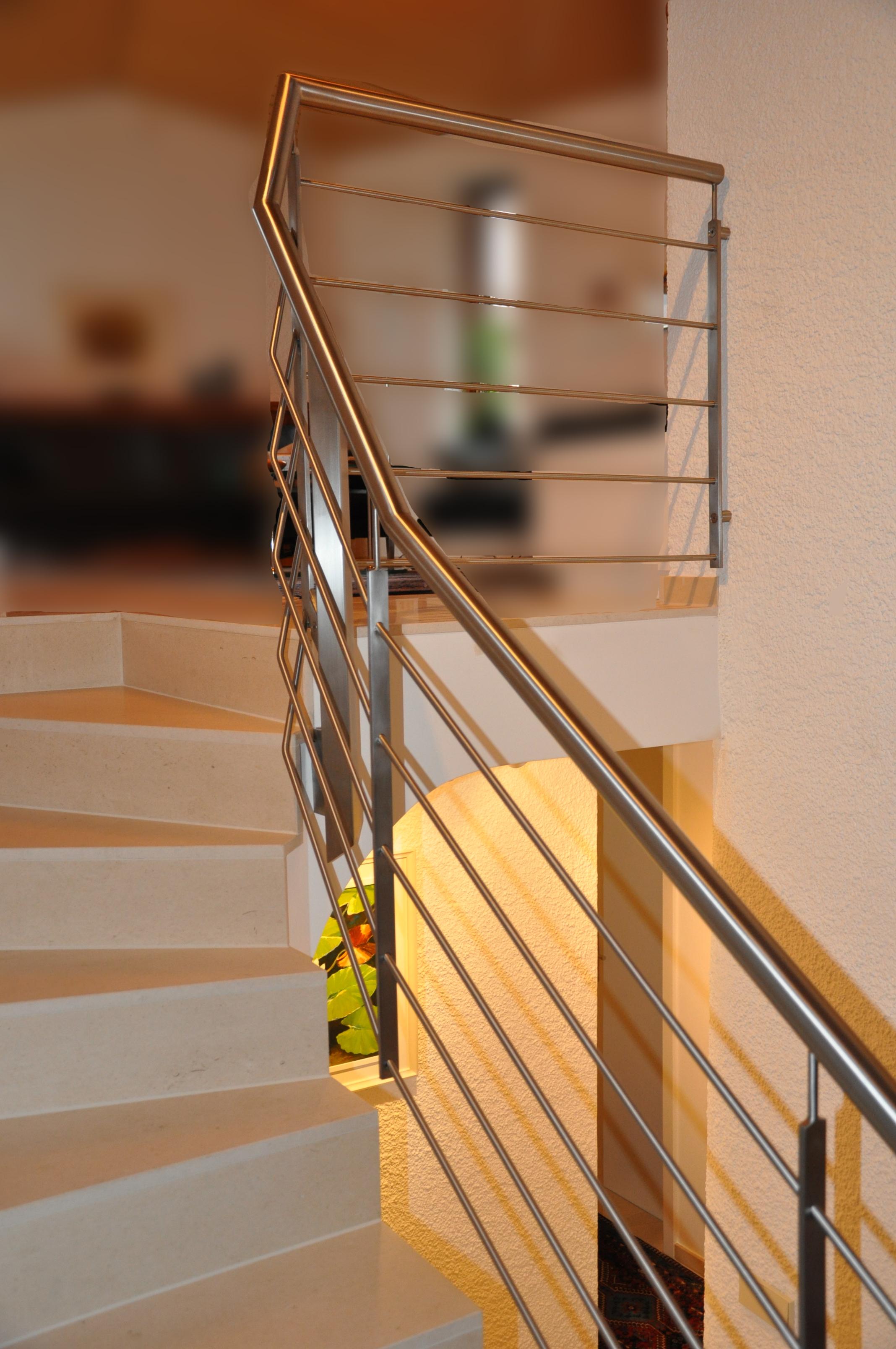 Edelstahl Treppengelander Goppingen Stahlbau Nagele