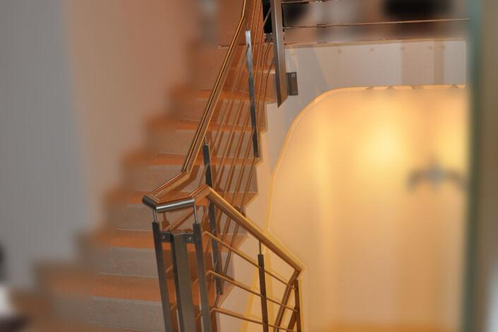 Schlosserarbeiten-Metallbauarbeiten-Geländer-Edelstahl-Treppengeländer-Göppingen-Stahlbau-Schlosser- und Metallbauarbeiten