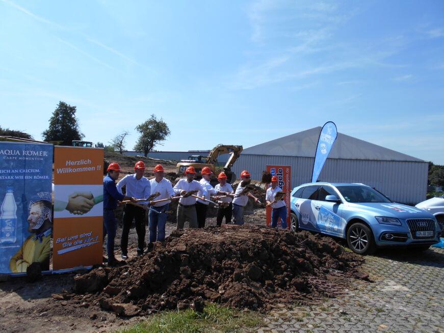 SF-Bau-Spatenstich in Mainhardt-Neubau Lagerhalle-Stahlbau-Schlüsselfertigbau