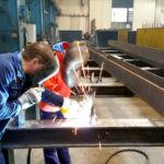 Mitmachen Ehrensache-Firat Arslan zu besuch bei Stahlbau Nägele