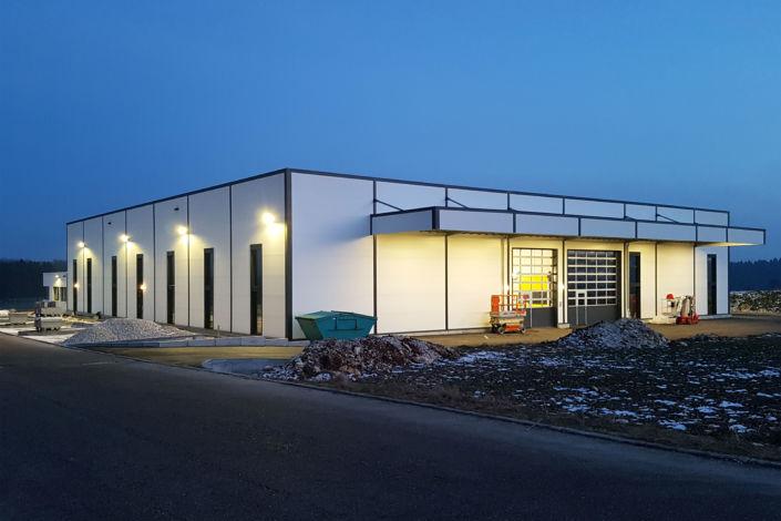 SF-Bau-Abnahme und Urkundenübergabe-Türkehim-Neubau Produktionshalle mit Sozialräumen-Stahlbau-Schlüsselfertigbau