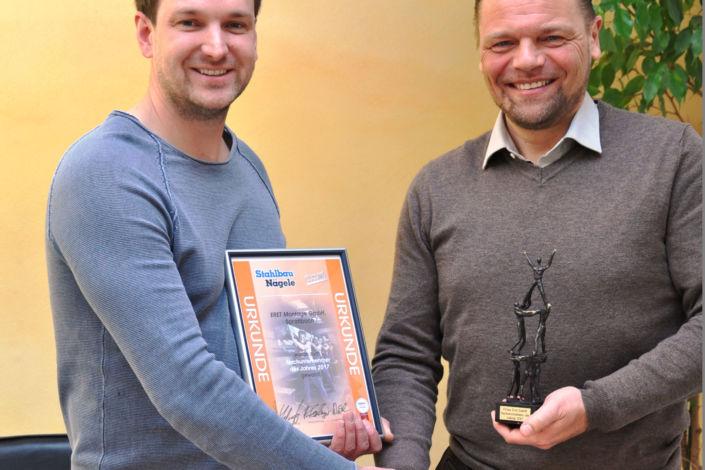 Verleihung Nachunternehmerpreis-2017-Firma Eret Montage