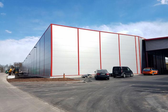 SF-Bau-Abnahme und Urkundenübergabe-Mainhardt-Neubau Lagerhalle-Stahlbau-Schlüsselfertigbau