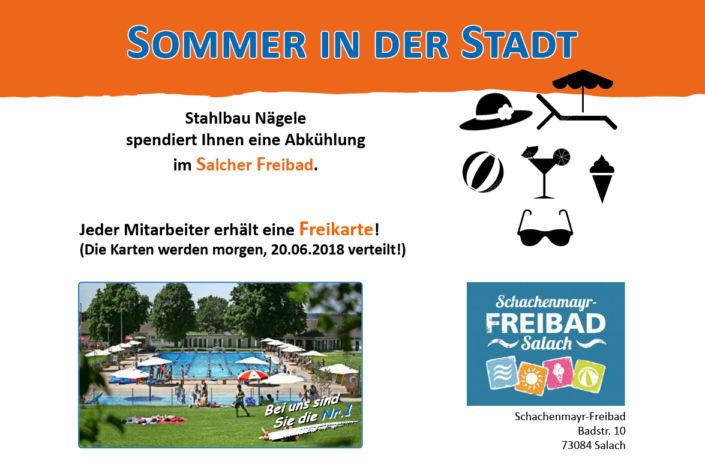 Freikarten Schachenmayr Freibad Salach-Beste Arbeitgeber