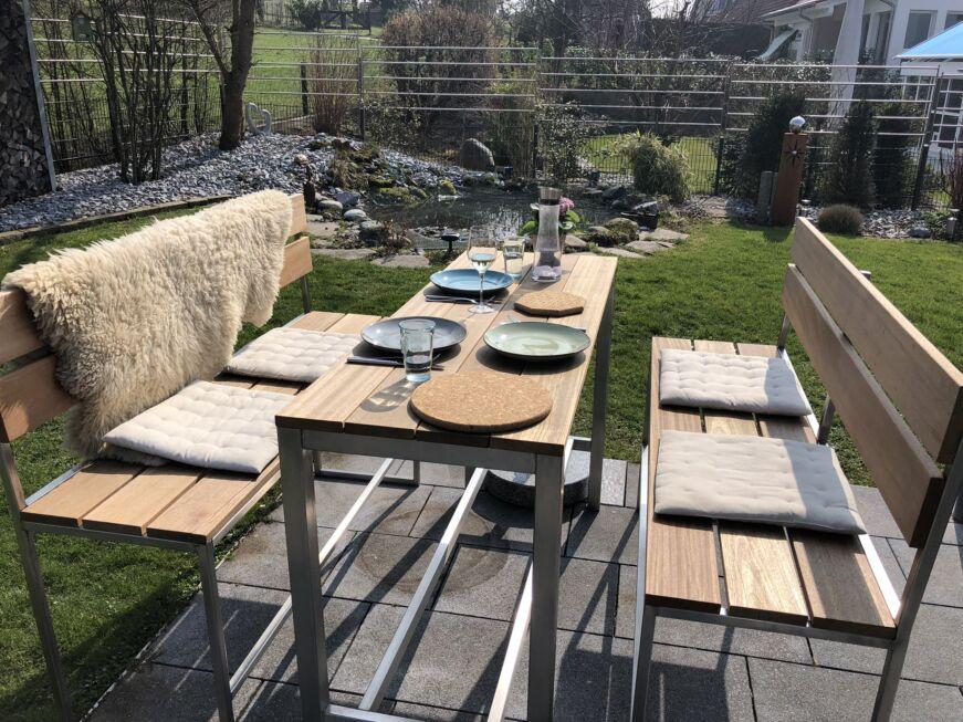 Schlosserarbeiten-Metallbauarbeiten-Sitzgruppe-Bänke-Stühle-Eislingen-Schlosser- und Metallbauarbeiten