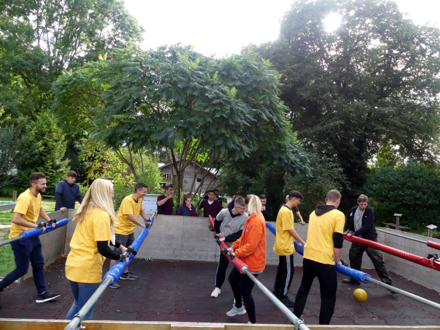 Stahlbau Nägele Azubi-Ausflug-Out & Back Sigmaringen-Human Table Soccer Turnier