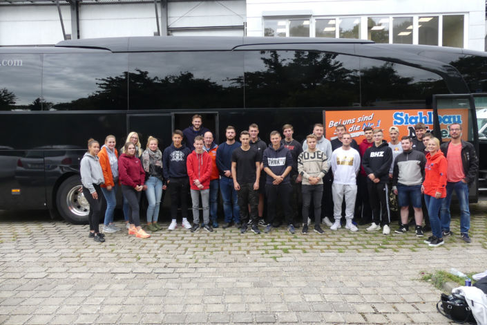 Stahlbau Nägele Azubi-Ausflug-Out & Back Sigmaringen-Team