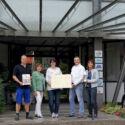 NWZ Pressemitteilung.Kreisverein Leben mit Behinderung-24 Std. Rollirennen-Scheckübergabe Stahlbau Nägele
