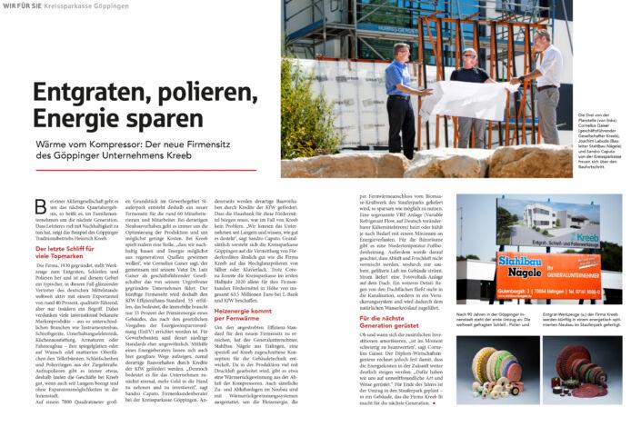 Kreissparkasse-Wir für Sie-Kreeb Stauferpark-Beitrag zur gesellschaftlichen Verantwortung 2020