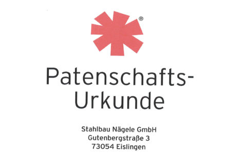 Björn Steiger Stiftung-Urkunde-Babynotarztwagen Felix