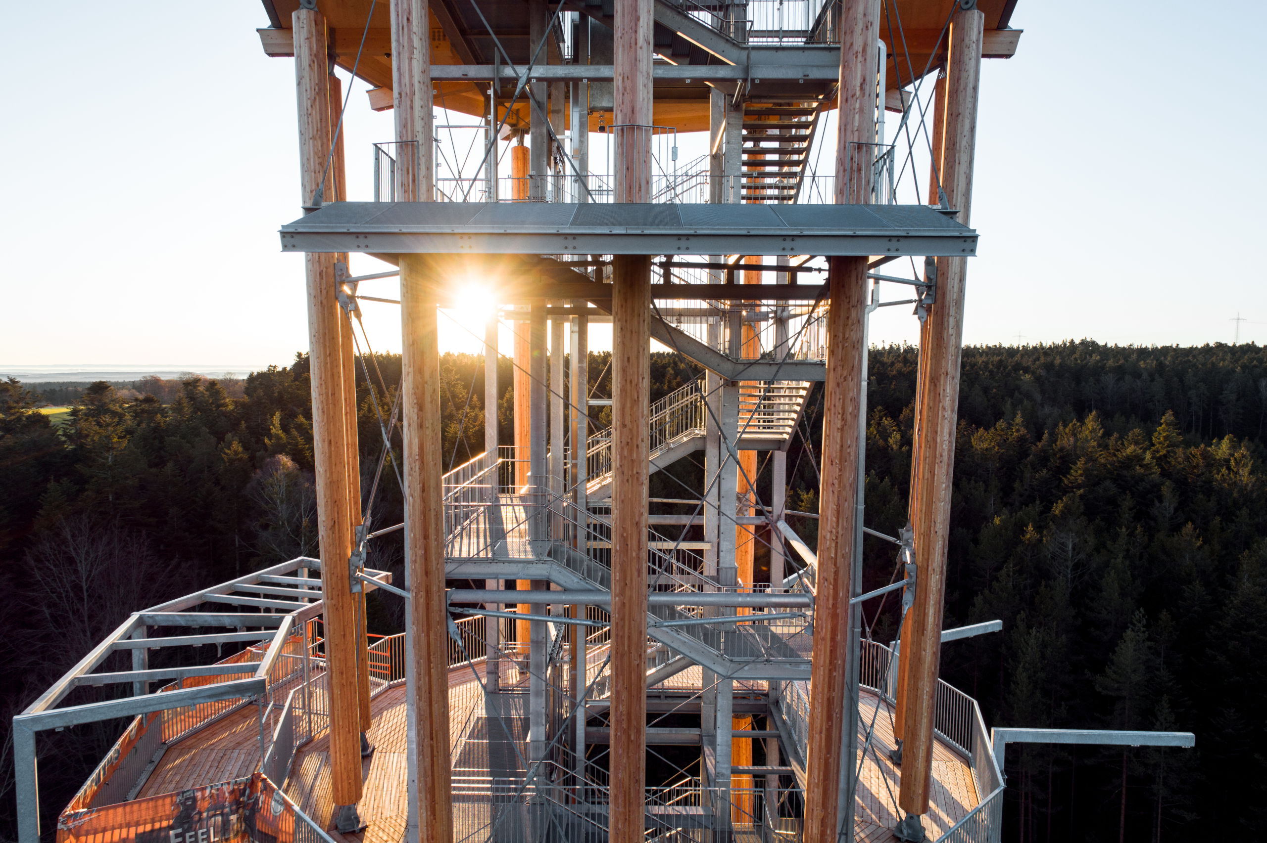 Stahlbau-Aussichtsturm-Schömberg-Stahlbau