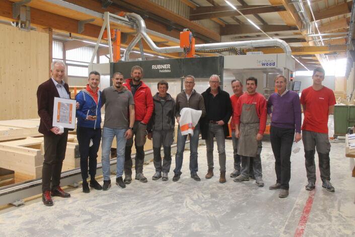 Verleihung Stahlbau Nägele Nachunternehmerpreis an Holzbau Rubner aus Brixen